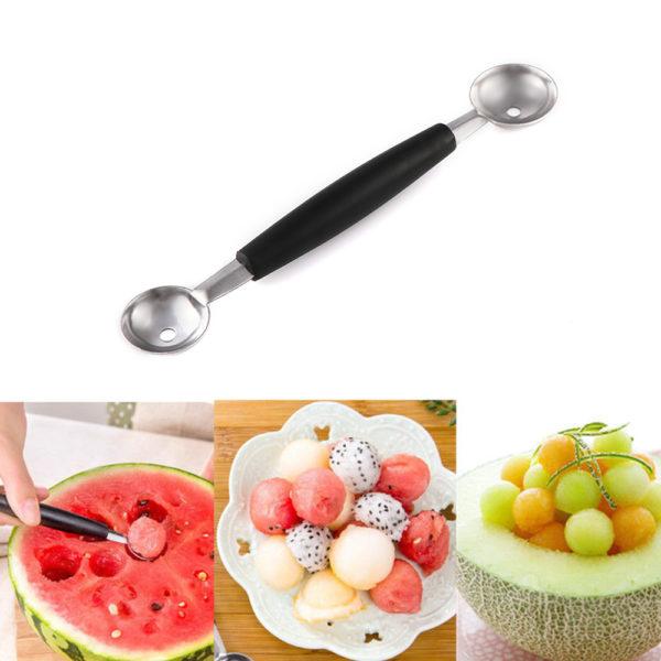 Nerezový kráječ a vykrajovač na meloun 4 v 1