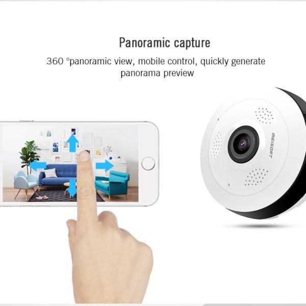Panoramatická bezpečnostní wifi kamera 360°