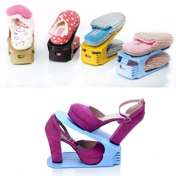 Plastový úložný organizér na obuv do botníku