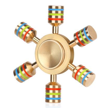 Kovový Fidget Spinner s duhovým efektem
