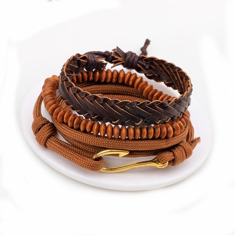 Módní kožený náramek Fashion B1 s hákem