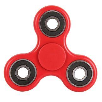 Plastový Fidget Spinner v červené barvě