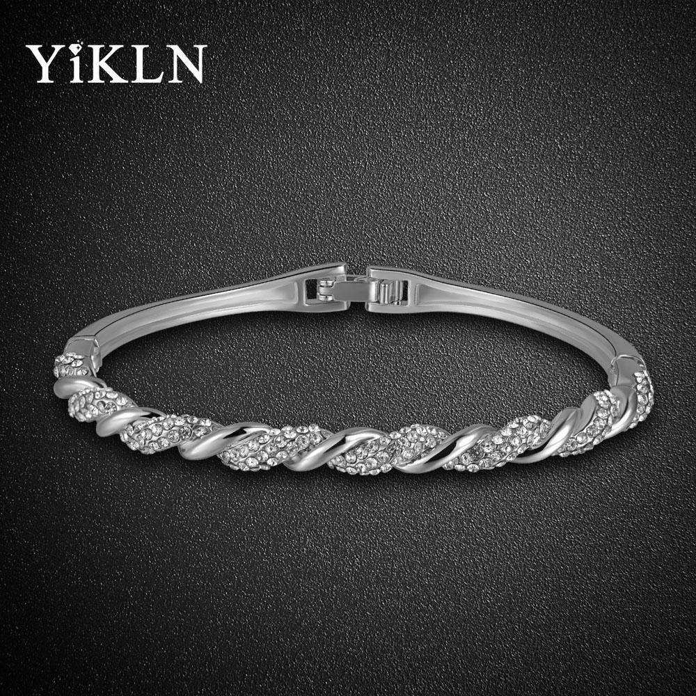 Dámský náramek YiKLN Pave SP5 platinum