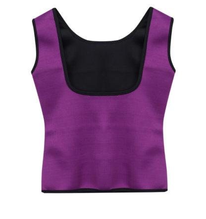 Neoprénová zeštíhlovací vesta Shaper Gym fialová