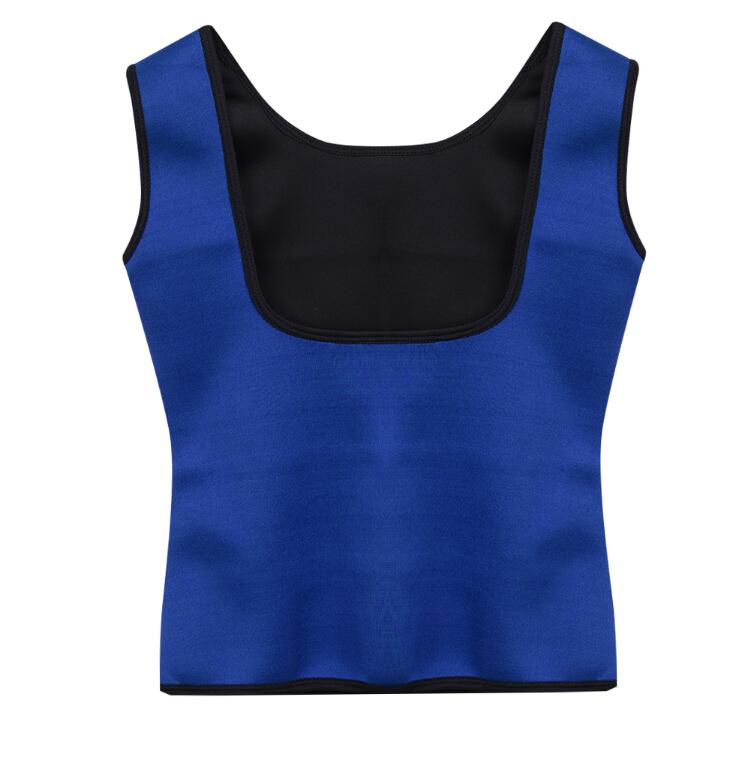 Neoprénová zeštíhlovací vesta Shaper Gym modrá