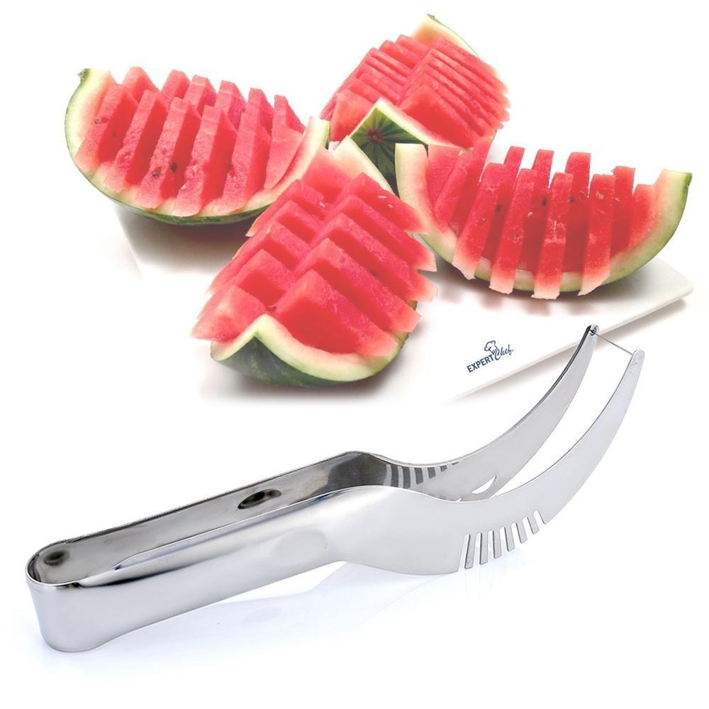 Nerezový kráječ na meloun 2 v 1 kleště a nůž