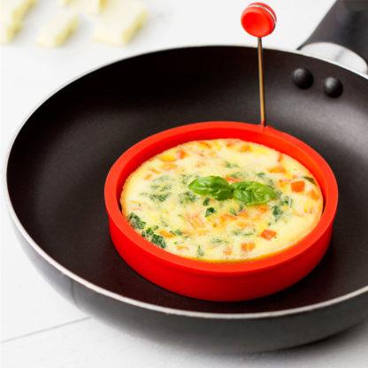 Kulatá silikonová forma na vejce zelená