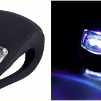 Malé silikonové osvětlení na kolo černé