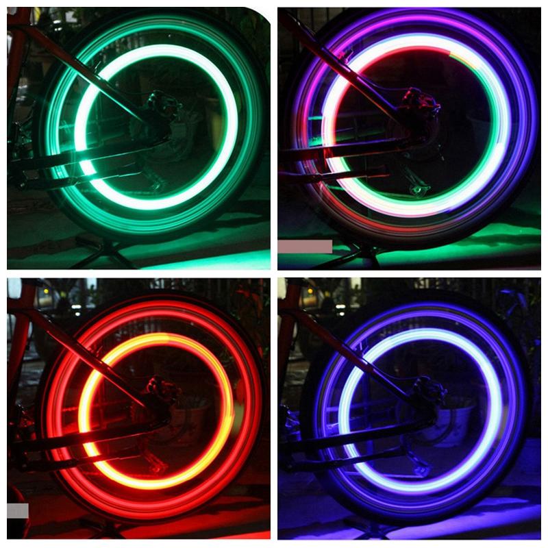 Malé silikonové osvětlení na kolo červené
