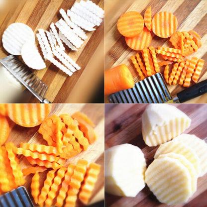 Vlnitý krájecí nůž na brambory a další zeleninu