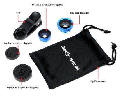 Fisheye Lens univerzální objektiv na mobil 3 v 1