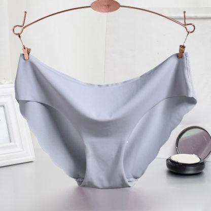 Bezešvé ultratenké dámské kalhotky šedá