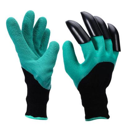 Zahradní rukavice se 4 plastovými drápy
