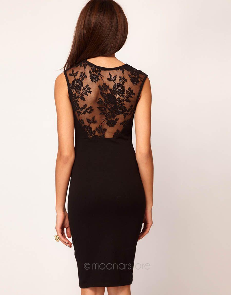 Elegantní dámské šaty bez rukávu se siťkou černé 1ce60eb916