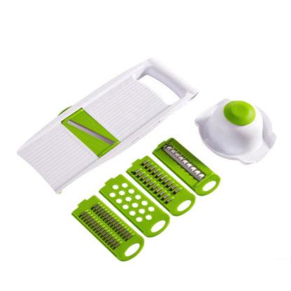 Multifunkční kráječ 5 v 1 zeleno bílý
