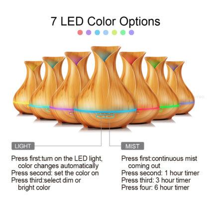Aroma difuzér s LED osvětlením a časovačem Light