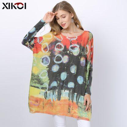 Dámský barevný svetr s potiskem Xikoi Patch